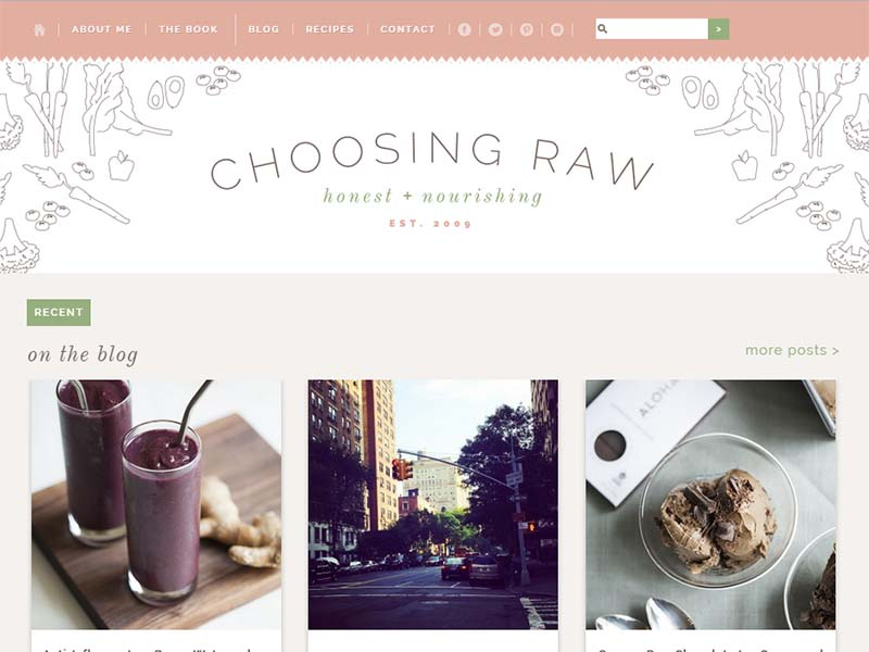 Choosing Raw - Website Screenshot