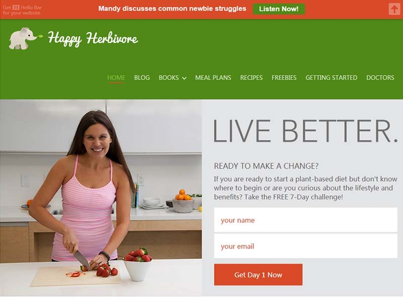 Happy Herbivore Website Screenshot