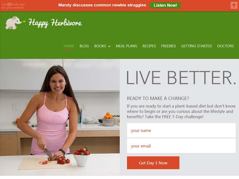 Happy Herbivore Website Screenshot