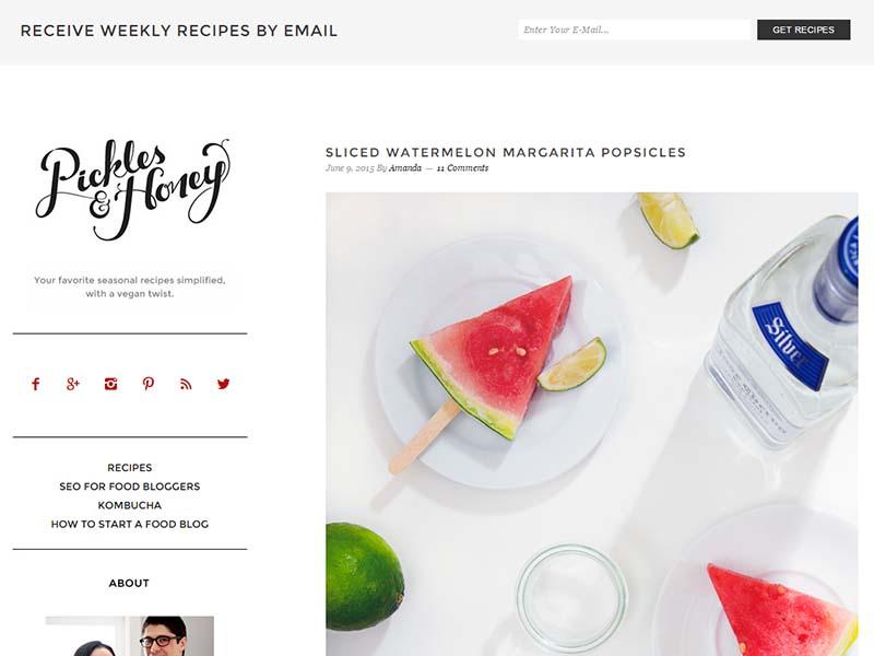 Pickles & Honey Website Screenshot