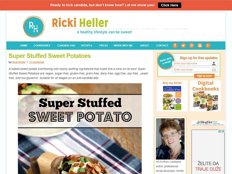 Ricki Heller Website Screenshot