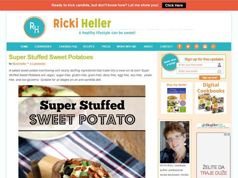 Ricki Heller Website Screenshot