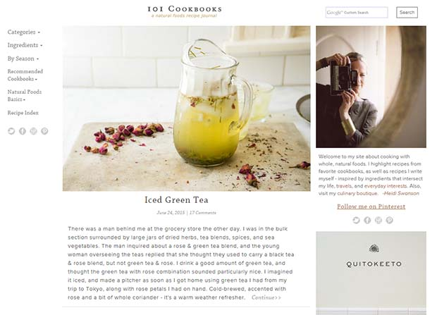 101 Cookbooks Website Screenshot
