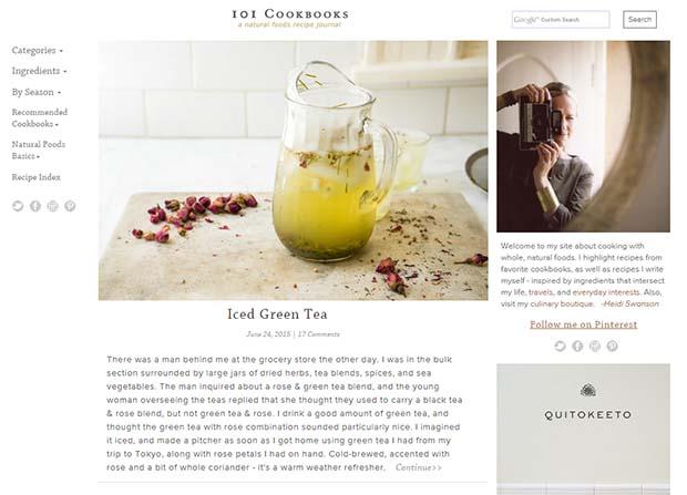 101 Cookbooks Website Screenshot