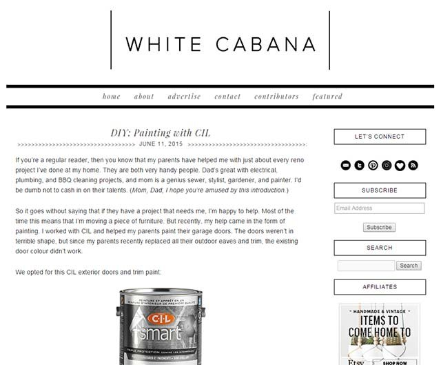 Jordana Garbati Interview - White Cabana Website Screenshot