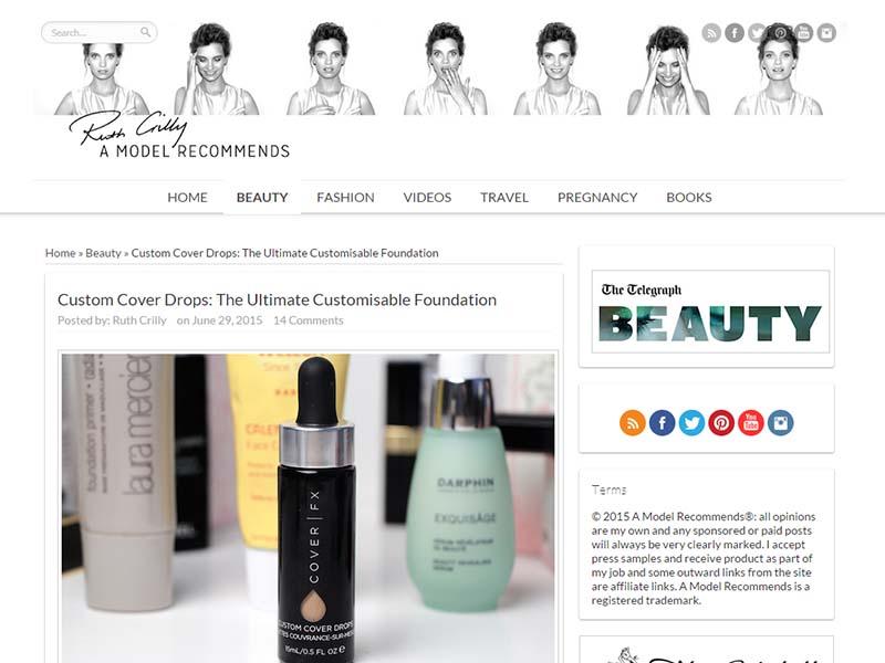 A Model Recommends - Website Screenshot