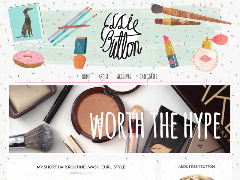 Essie Button - Website Screenshot