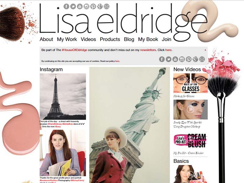 Lisa Eldridge - Website Screenshot
