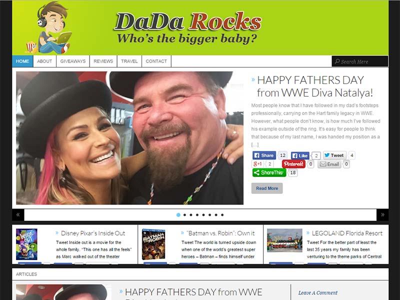 DaDa Rocks - Website Screenshot