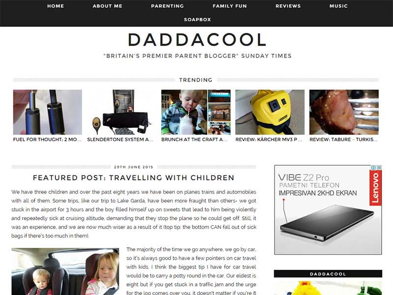 Daddacool - Website Screenshot