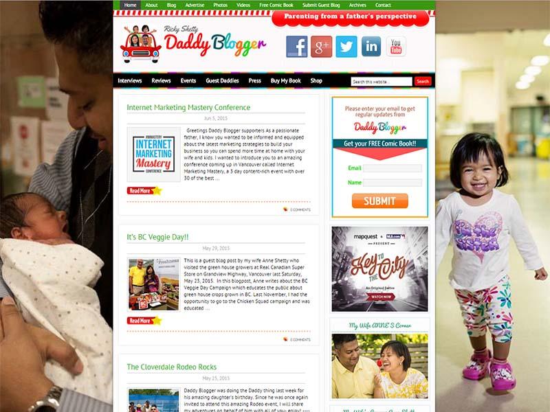 Daddy Blogger - Website Screenshot