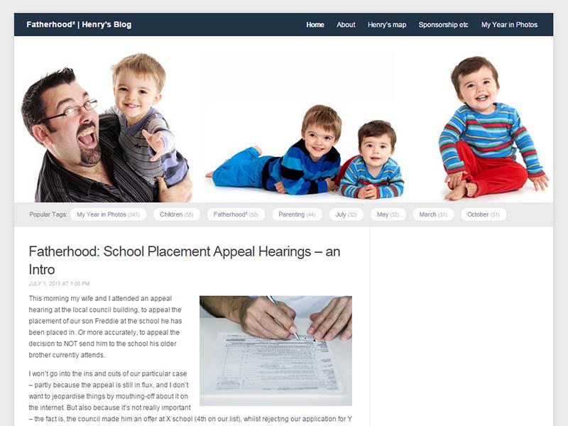 Henry's Blog - Website Screenshot