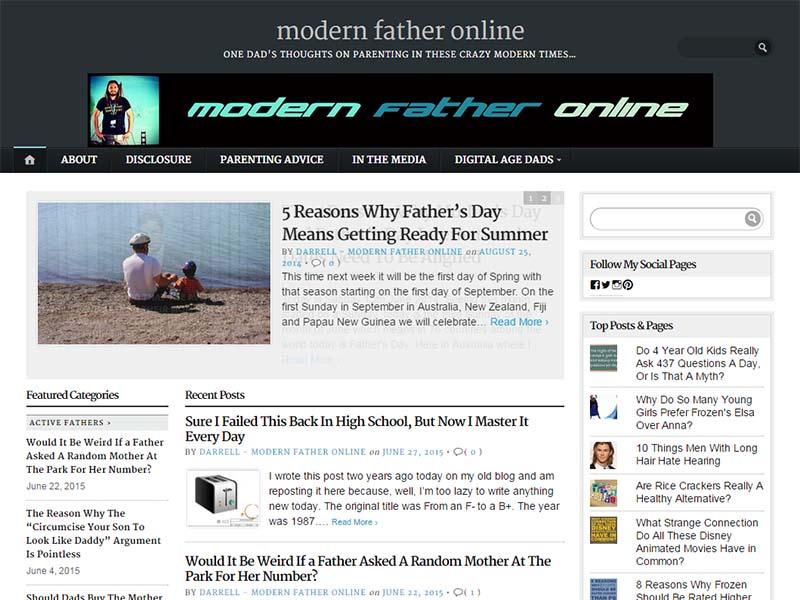 Modern Father Online - Website Screenshot