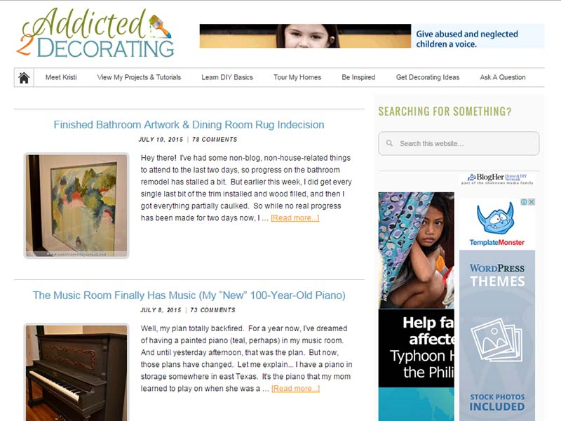Addicted2Decorating - Website Screenshot