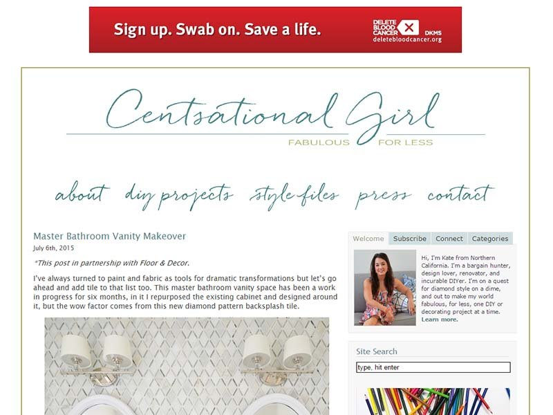 Centsational Girl - Website Screenshot