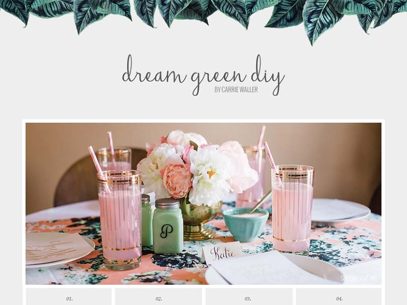 Dream Green DIY - Website Screenshot
