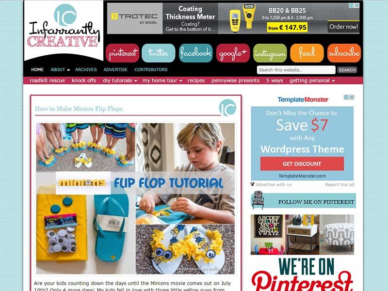Infarrantly Creative - Website Screenshot