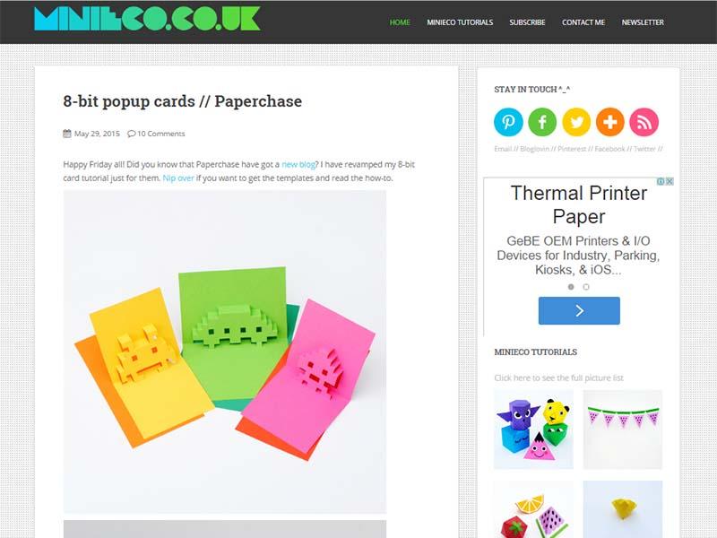 Mini-eco - Website Screenshot