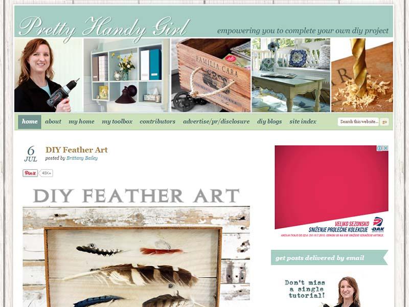 Pretty Handy Girl - Website Screenshot