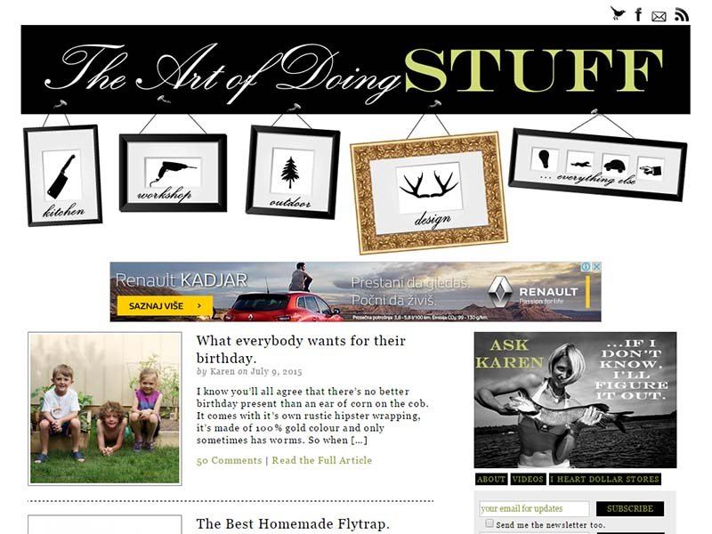 The Art Of Doing Stuff - Website Screenshot