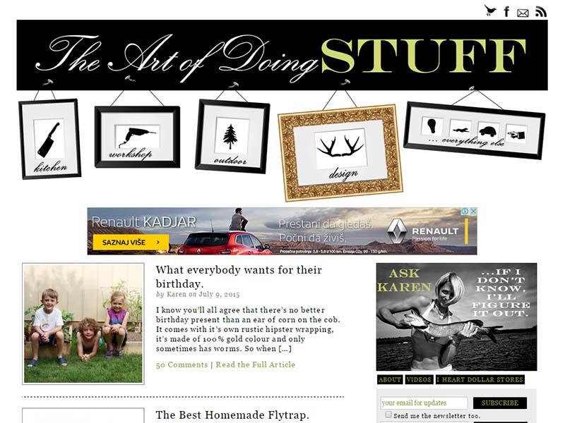 The Art Of Doing Stuff - Website Screenshot