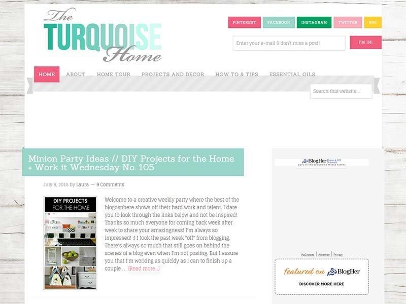 The Turquoise Home - Website Screenshot