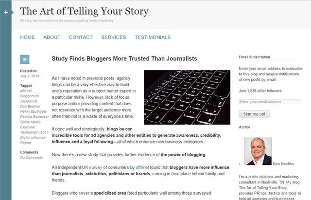 Don Beehler Interview - Website Screenshot