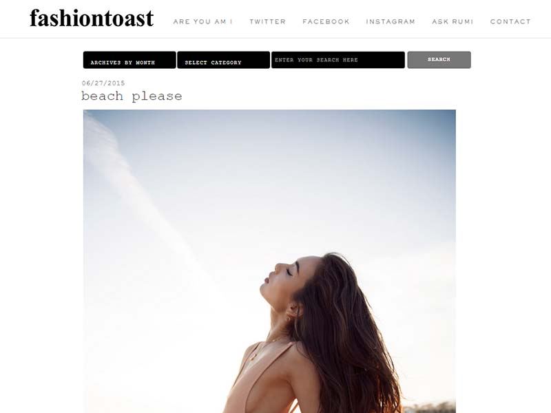 Fashiontoast - Website Screenshot