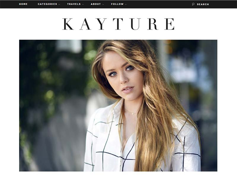Kayture - Website Screenshot
