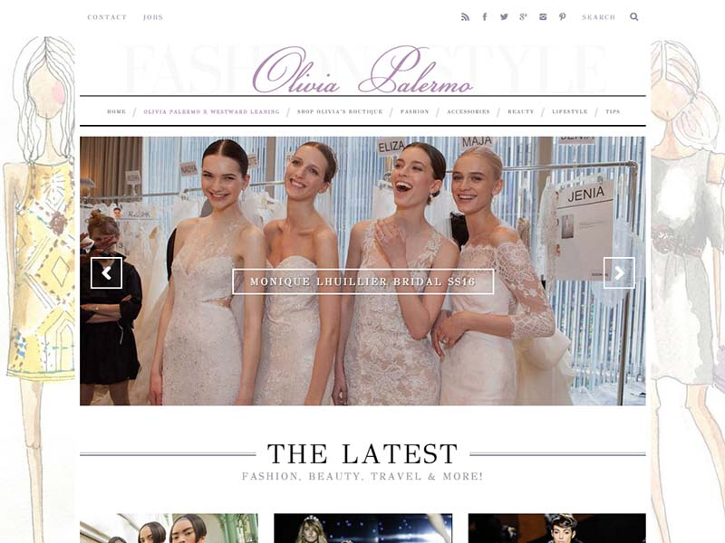 Olivia Palermo - Website Screenshot