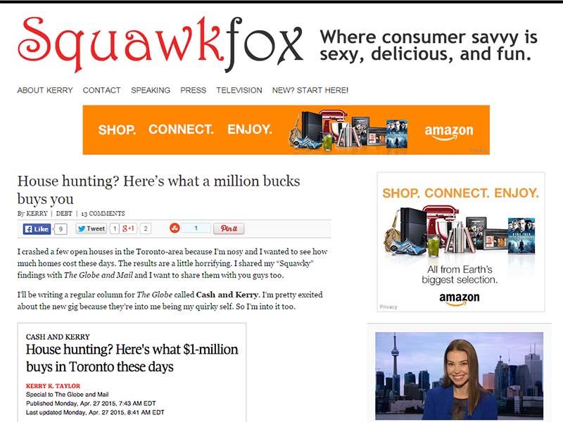Squawkfox - Website Screenshot