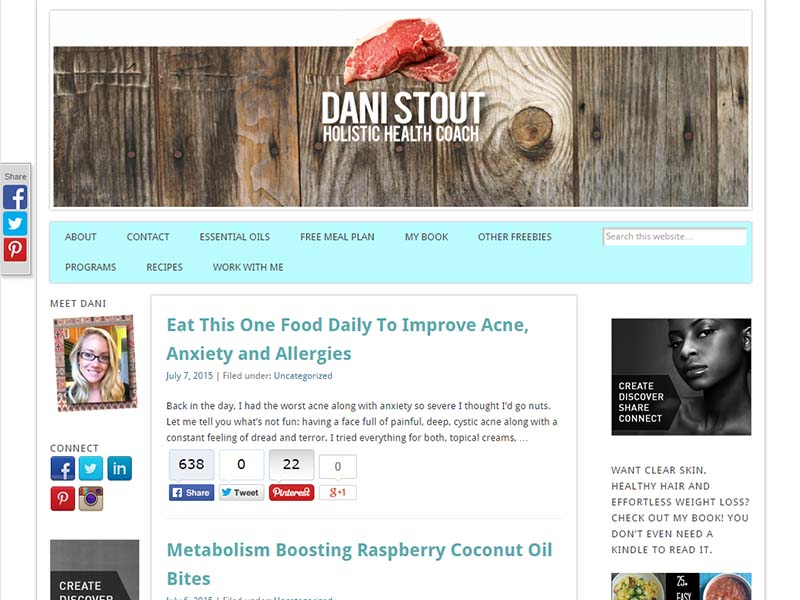 Ancestral Nutrition - Website Screenshot