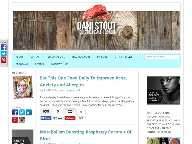 Ancestral Nutrition - Website Screenshot