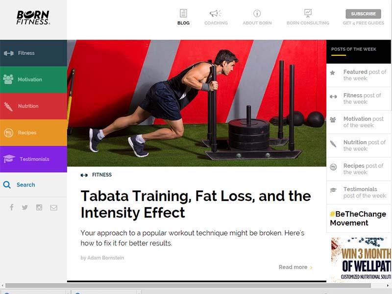 Born Fitness - Website Screenshot