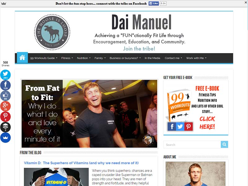 Dai Manuel - Website Screenshot