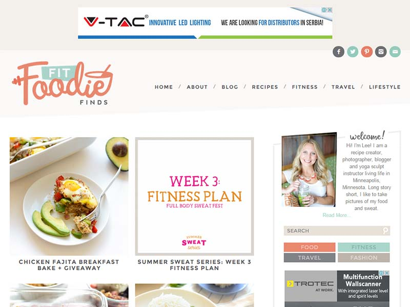 Fit Foodie Finds - Website Screenshot