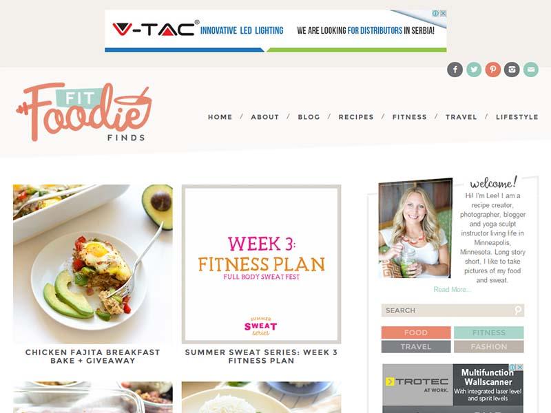 Fit Foodie Finds - Website Screenshot