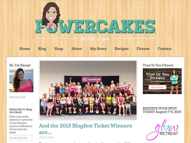 Power Cakes - Website Screenshot