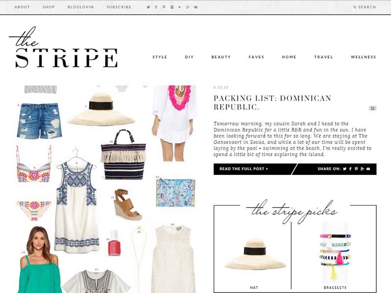 The Stripe - Website Screenshot