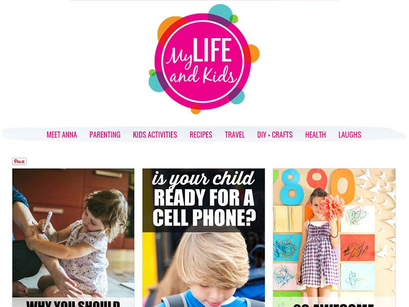 My Life and Kids - Website Screenshot