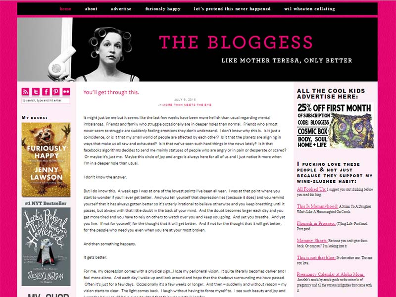 The Bloggess - Website Screenshot