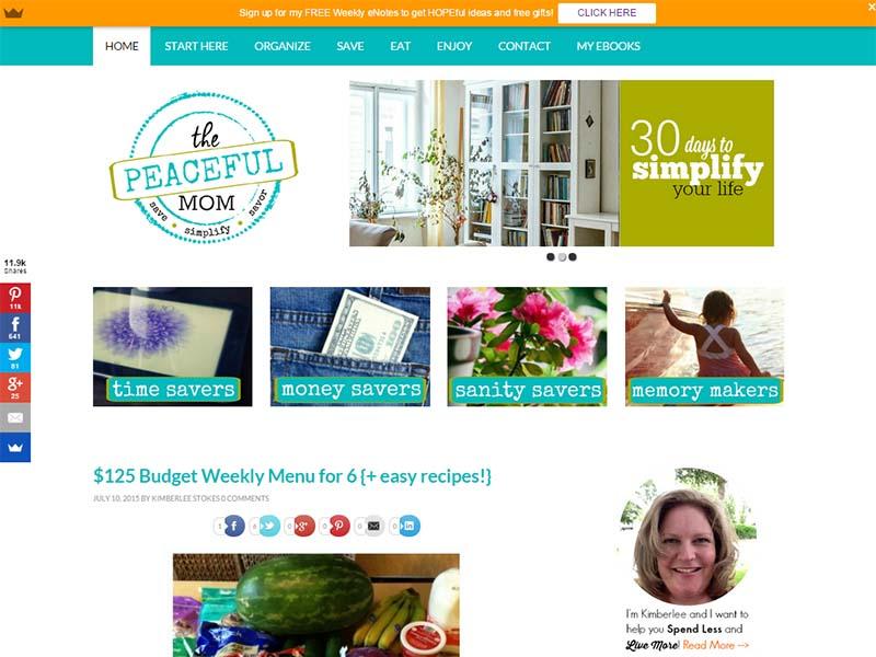 The Peaceful Mom - Website Screenshot