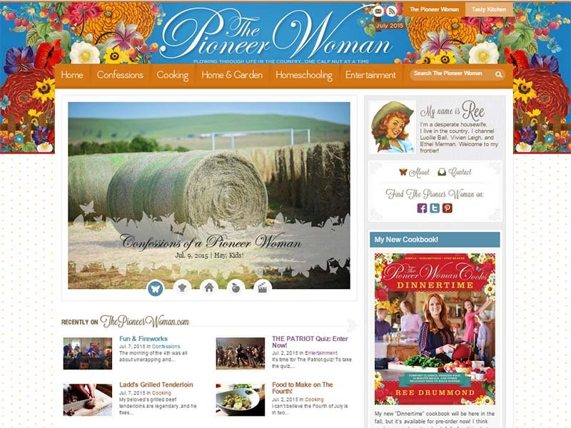 The Pioneer Woman - Website Screenshot