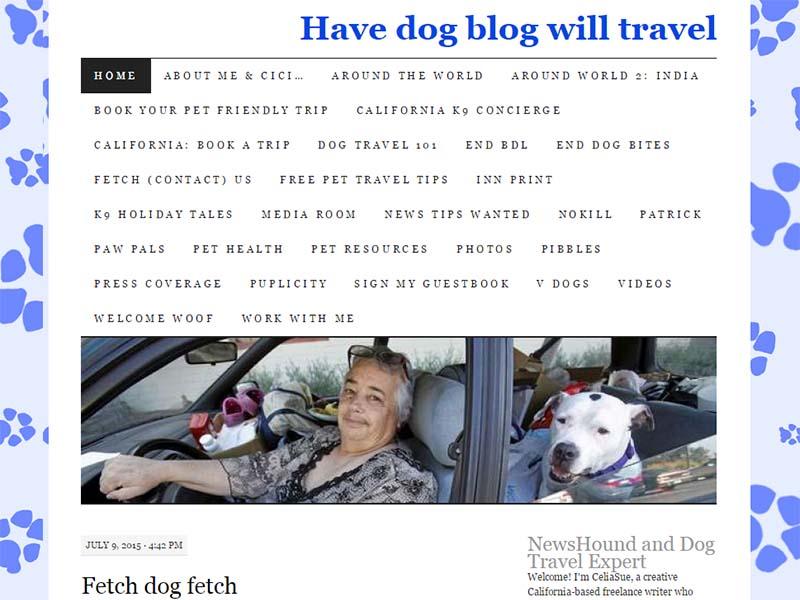 Have Dog Blog Will Travel - Website Screenshot
