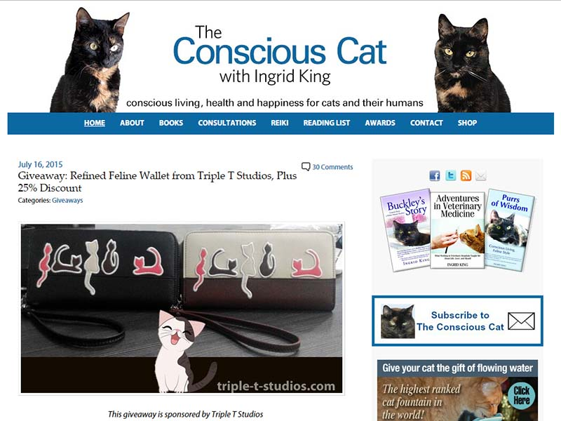 The Conscious Cat - Website Screenshot