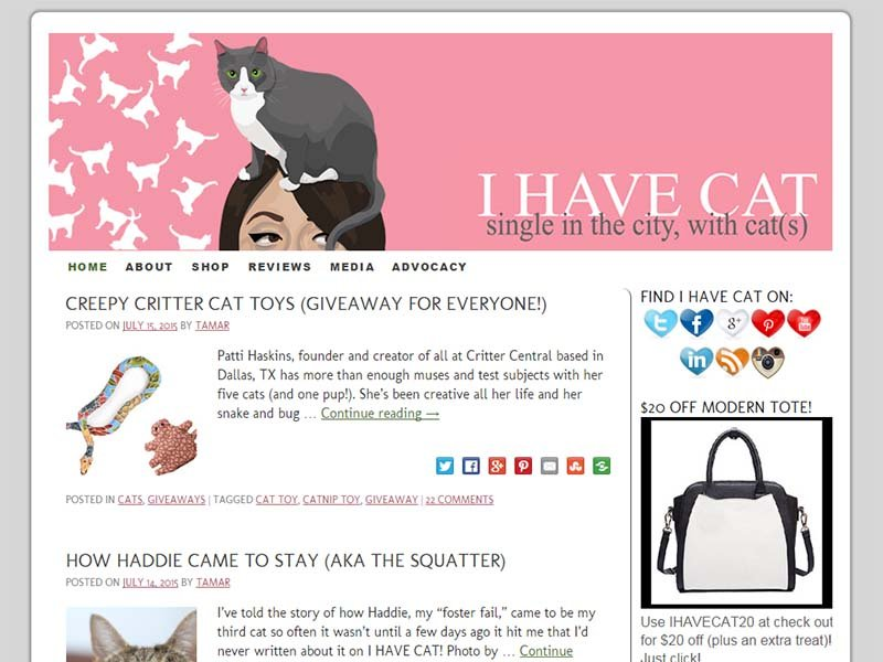 I Have Cat - Website Screenshot