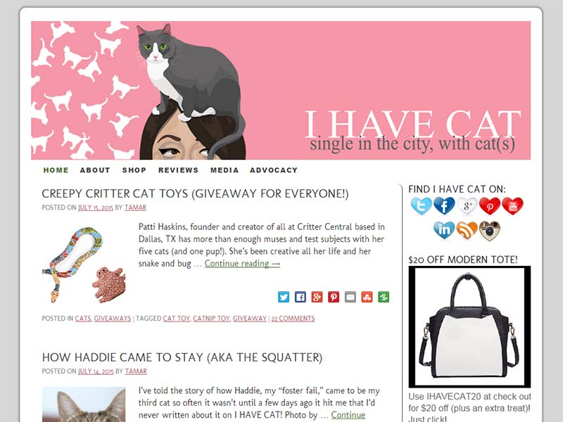 I Have Cat - Website Screenshot