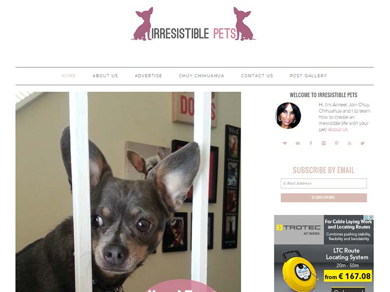 Irresistible Pets - Website Screenshot