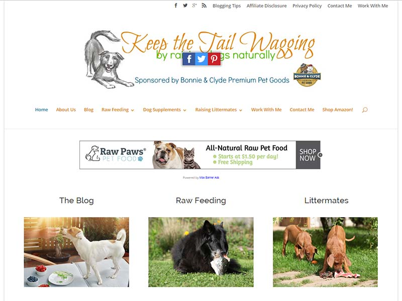Keep The Tail Wagging - Website Screenshot