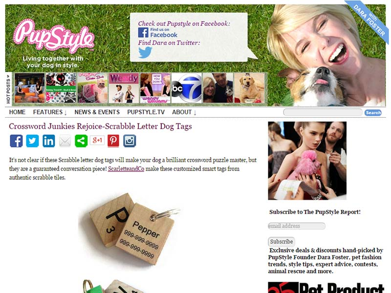 PupStyle - Website Screenshot